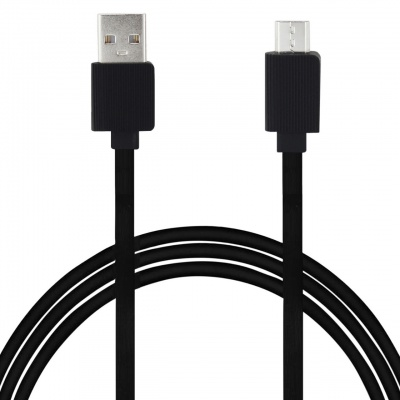 SClout Connect Flat 3.4A 1Meter Micro USB Cable with Charge & Sync Function for Micro USB Devices (Black)