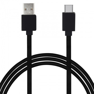 SClout SC195TC Connect Flat 3.4A 1Meter Type-C Cable with Charge & Sync Function for Type-C Devices (Black)