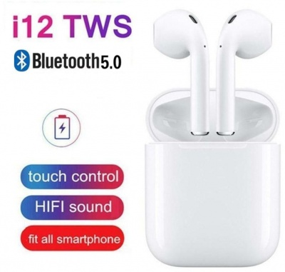 TWSi12 5.0 Wireless Earphone with Portable Charging Case (White)