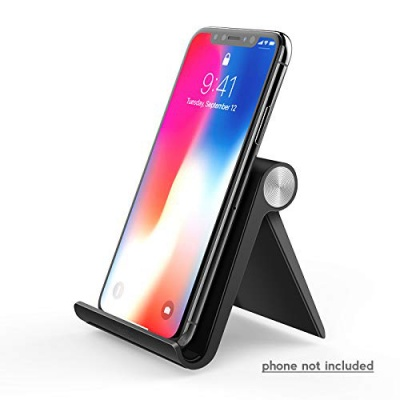 Sclout Cell Phone Stand Holder Compatible with iPhone X 8 Plus 6 7 Xs Max 6S 5, Samsung Galaxy S9 S8 S7 Edge S6, Android Smartphone Holder for Desk, Adjustable and Foldable