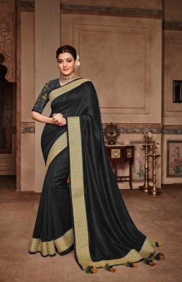 Buy Adorable Kajal Aggarwal Heavy Designer Vichitra Silk Saree