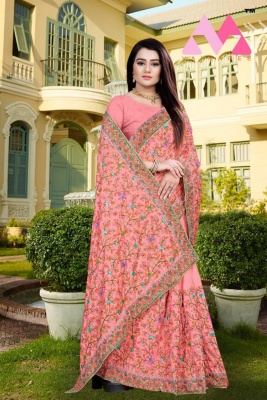 Buy Dolla Silk Women's Fancy designer latest 2020 Embroidery Saree