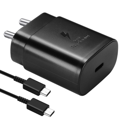 Samsung 25W Fast Charging Adapter with USB-C Cable Compatible for Samsung Galaxy Note10/Note20/S20/S20+/S20 Ultra (Charger)